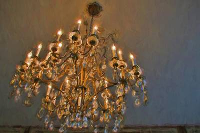 Photograph - Chandelier Lights by Alice Gipson
