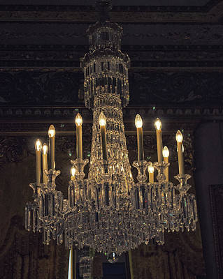 Old Home Photograph - Chandelier by Martin Newman