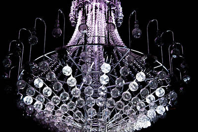 Photograph - Chandelier Turning White by Miroslava Jurcik
