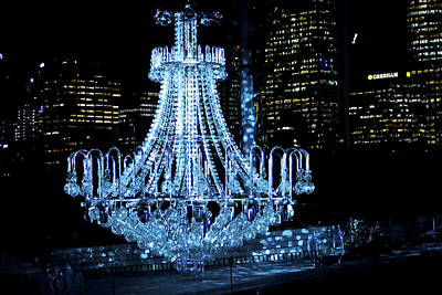 Photograph - Chandelier With Backdrop Of Sydney by Miroslava Jurcik