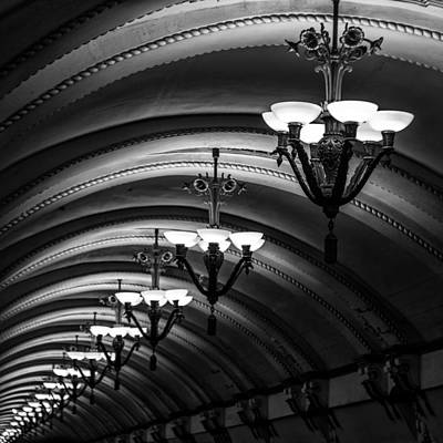 Glass Beads Photograph - Chandeliers by Stelios Kleanthous