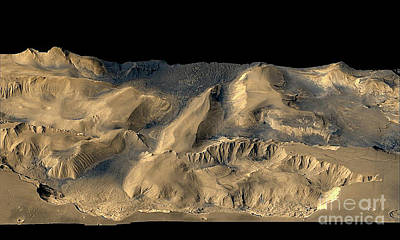 Photograph - Chandor Chasm On Mars - From Nasa Space Image by Merton Allen
