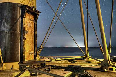 Photograph - Chandler Hovey Light Tower At Night Marblehead Ma by Toby McGuire