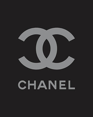 Moda Digital Art - Chanel - Black And Grey by Alta Vita