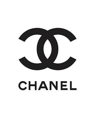 Noir Digital Art - Chanel - Black And White by Alta Vita