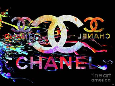 Pop Art Royalty-Free and Rights-Managed Images - Chanel Black by Daniel Janda
