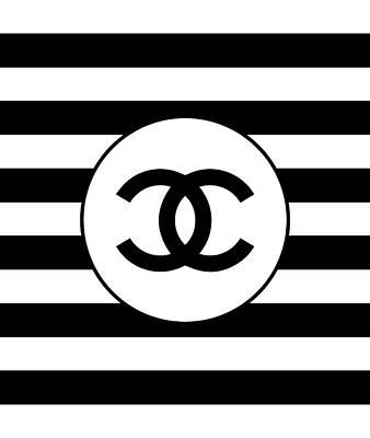 Noir Digital Art - Chanel Black Stripes by Alta Vita