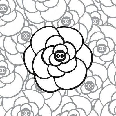 Noir Digital Art - Chanel Camellia II by Alta Vita