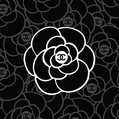 Noir Digital Art - Chanel Camellia V by Alta Vita