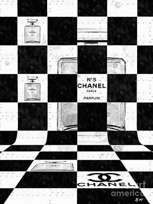 Mixed Media - Chanel Chess by Daniel Janda