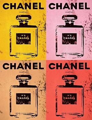 Icon Mixed Media - Chanel Five Pop Art by Dan Sproul