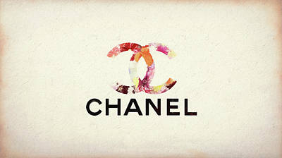 Mixed Media - Chanel Floral Texture  by Dan Sproul