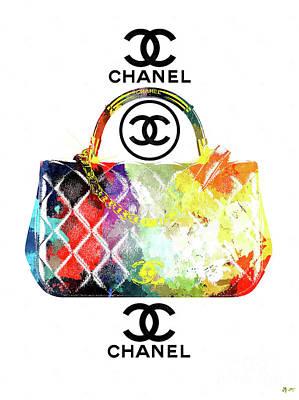 Mixed Media - Chanel Handbag by Daniel Janda