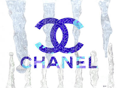 Mixed Media - Chanel Icicles by Daniel Janda