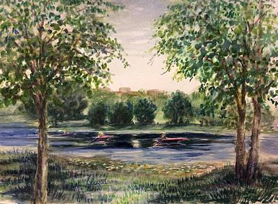 Channel At The Lake Of Isle - Minneapolis  Art Print