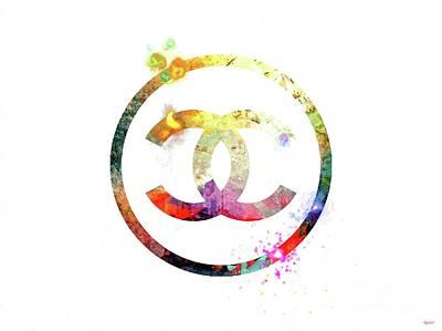 French Signs Mixed Media - Chanel Logo by Daniel Janda