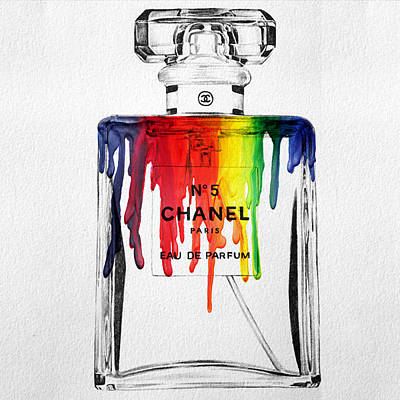 Abstract Paint Painting - Chanel  by Mark Ashkenazi