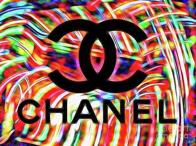 Mixed Media - Chanel Neon by Daniel Janda