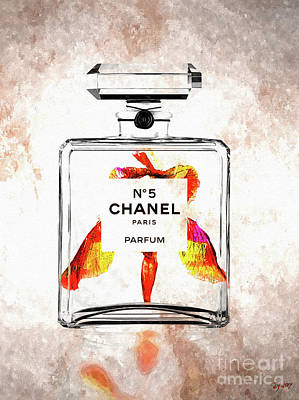 Mixed Media - Chanel No. 5 Iris  by Daniel Janda