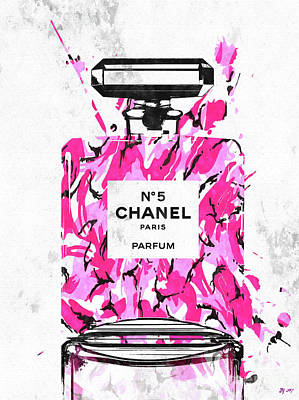Mixed Media - Chanel No. 5 Pink Army by Daniel Janda