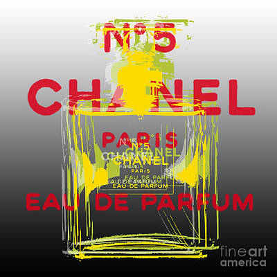 Digital Art - Chanel  No. 5 Pop Art by Jean luc Comperat
