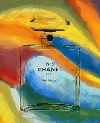 Gabrielle Painting - Chanel Number Five Bottle by Dan Sproul