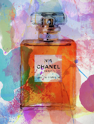 Gabrielle Painting - Chanel Number Five Splatter by Dan Sproul