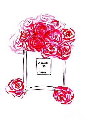 Dressing Room Painting - Chanel Peony by Sweeping Girl