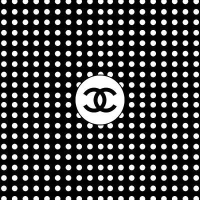 Noir Digital Art - Chanel Polka Dots - White And Black by Alta Vita