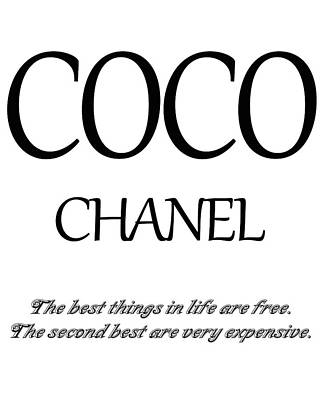 Chanel Quote Art Print