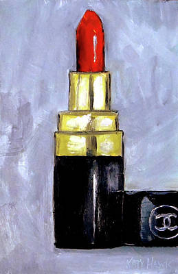 Painting - Chanel Red Lipstick by Katy Hawk