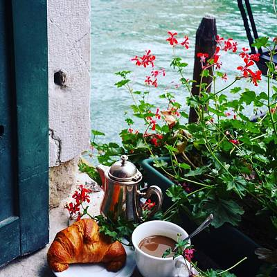Photograph - Chanel View Breakfast In Venezia by Tamara Sushko