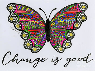 Mixed Media - Change Is Good by Angela L Walker