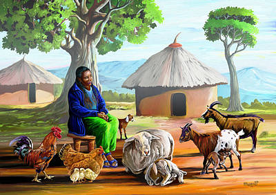 Painting - Change Of Scene by Anthony Mwangi