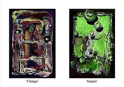 Print featuring the painting Change To Inspire by Carol Rashawnna Williams