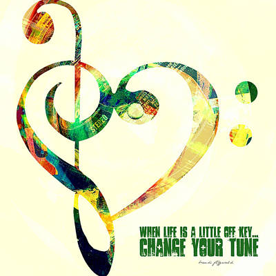 Change Your Tune Art Print by Brandi Fitzgerald
