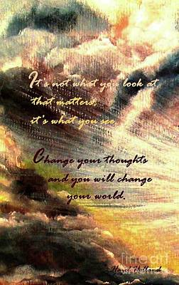 Painting - Change Your World by Hazel Holland
