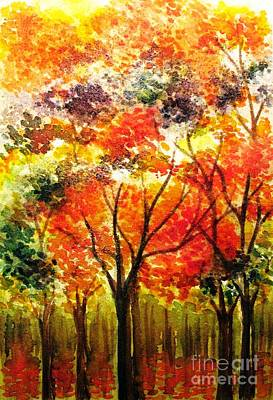 Painting - Changing Colors Of The Season by Hazel Holland