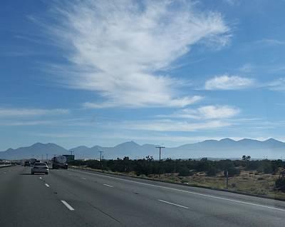 Photograph - Changing Lanes On A Desert Highway by Karen J Shine