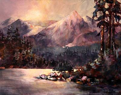 Changing Light On The Bulkley River Art Print