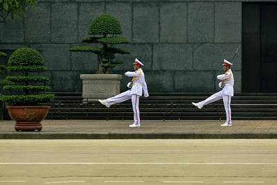 Wall Art - Photograph - Changing Of Guard At Ho Chi Minh Mausoleum by Steven Richman