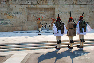 Greek Photograph - Changing Of The Guard - Athens Greece by Just Eclectic