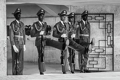 Photograph - Changing Of The Guard Bw by Dawn Currie