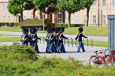 Rosenborg Photograph - Changing Of The Guard In Copenhagen by Catherine Sherman