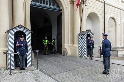 Czech Photograph - Changing Of The Guards Of Prague Castle. Prague, Czech Republic by Michal Bednarek