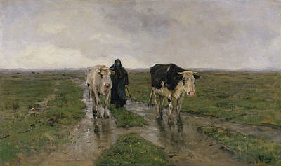 Rustic Painting - Changing Pasture by Anton Mauve