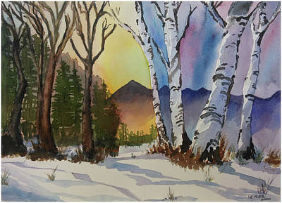 Pine Barrens Painting - Changing Seasons Conflicts by Donna Leiber
