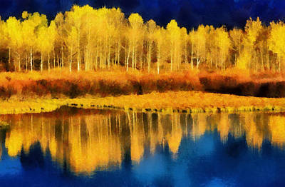 Winter Trees Digital Art - Changing Seasons by Russ Harris
