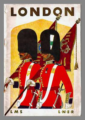 Painting - Changing The Guard London - 1937 by Ian Gledhill