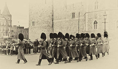Marching Band Photograph - Changing The Guard Windsor Castle by Chris Thaxter